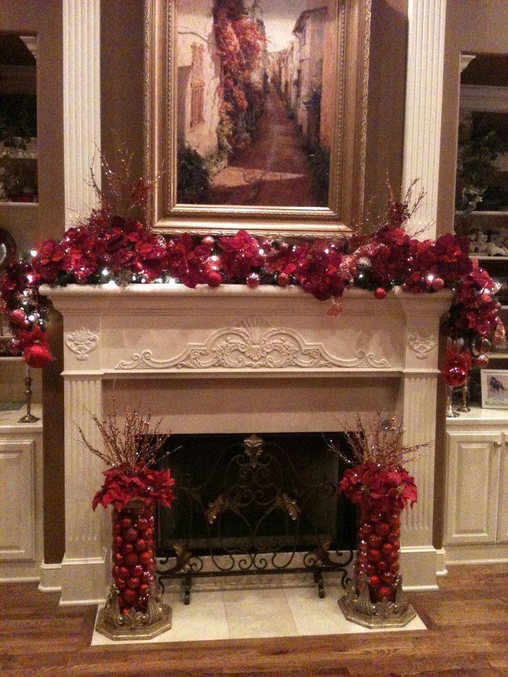 Christmas Fireplace Decor Pinterest  17 Best images about Christmas Mantels on Pinterest