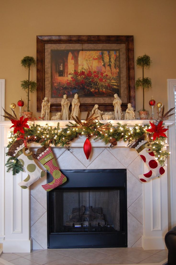 Christmas Fireplace Decor Pinterest  19 best Holiday images on Pinterest