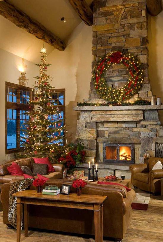 Christmas Fireplace Decor Pinterest  Top Indoor Christmas Decorations on Pinterest Christmas