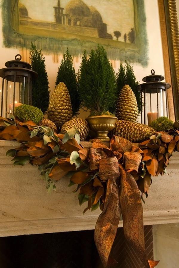Christmas Fireplace Decor Pinterest  15 Fireplace Mantel Ideas for the Holidays