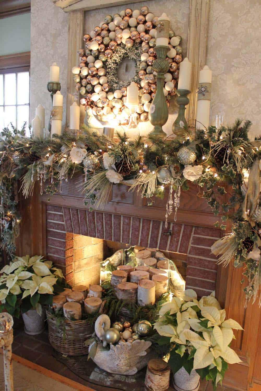 Christmas Fireplace Decor Pinterest  50 Absolutely fabulous Christmas mantel decorating ideas