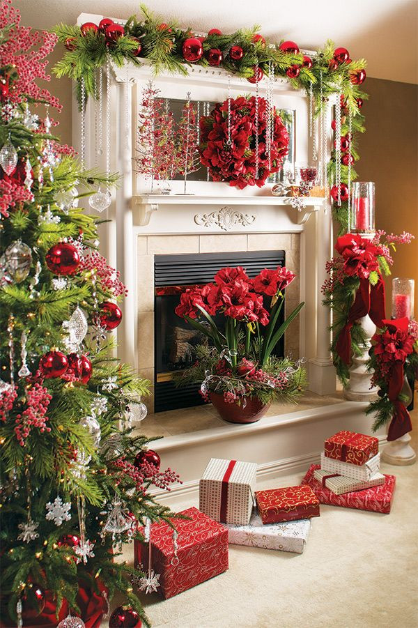 Christmas Fireplace Decor Pinterest  22 Glowing Christmas Mantel Decorations That Will Warm