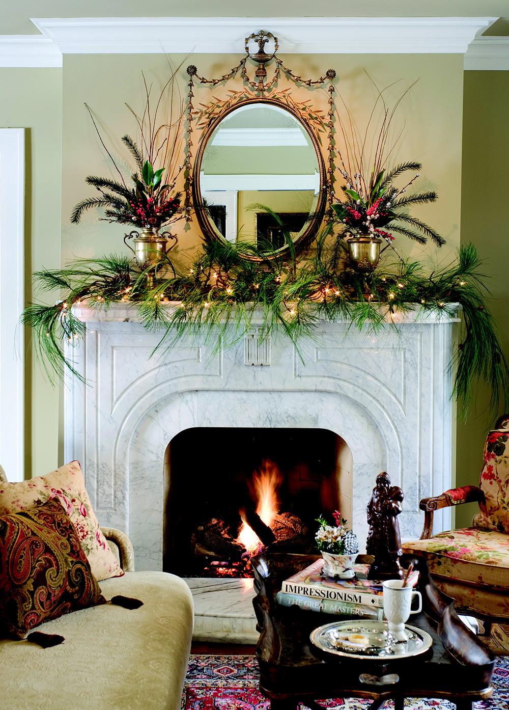 Christmas Fireplace Decor Pinterest  Create a Mantel Masterpiece this Holiday Season Nell Hills