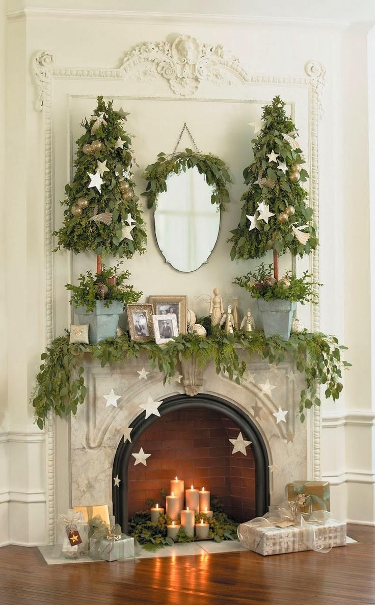Christmas Fireplace Decor Pinterest  Cupcakes & Couture Design Inspiration Christmas Fireplaces