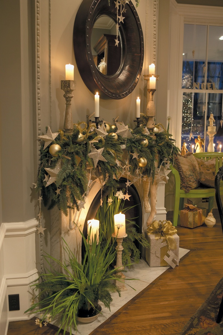 Christmas Fireplace Decor Pinterest  33 Christmas Mantel Decorations Ideas To Try This Year