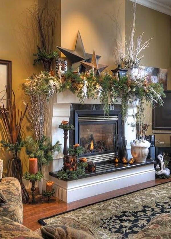 Christmas Fireplace Decor Pinterest  18 Magical Christmas Mantelpiece Decorations