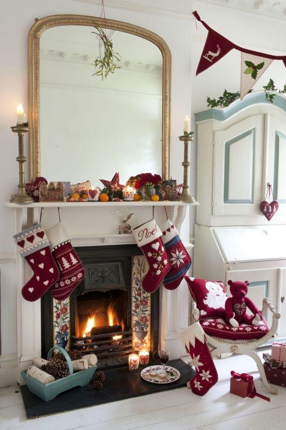 Christmas Fireplace Decor Pinterest  25 Best Ideas about Christmas Fireplace on Pinterest