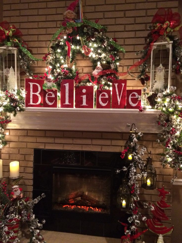 Christmas Fireplace Decor Pinterest  25 best ideas about Christmas mantle decorations on
