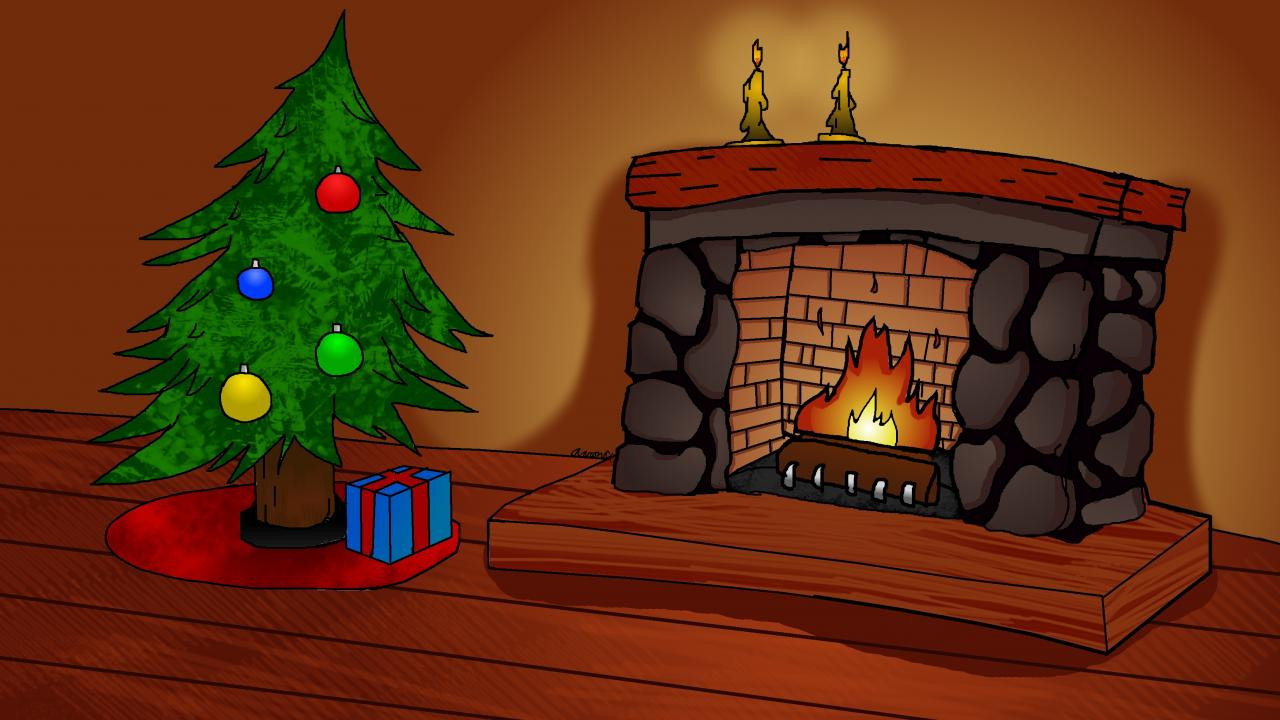 Christmas Fireplace Drawings Elegant Christmas Drawing by Archery98 Minecraft Blog
