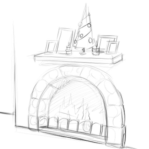 Christmas Fireplace Drawings  How to Draw a Fireplace 12 Steps with wikiHow