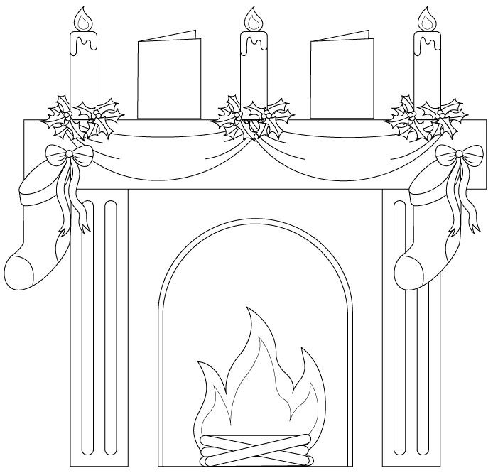 Christmas Fireplace Drawings  25 best Fireplaces images on Pinterest