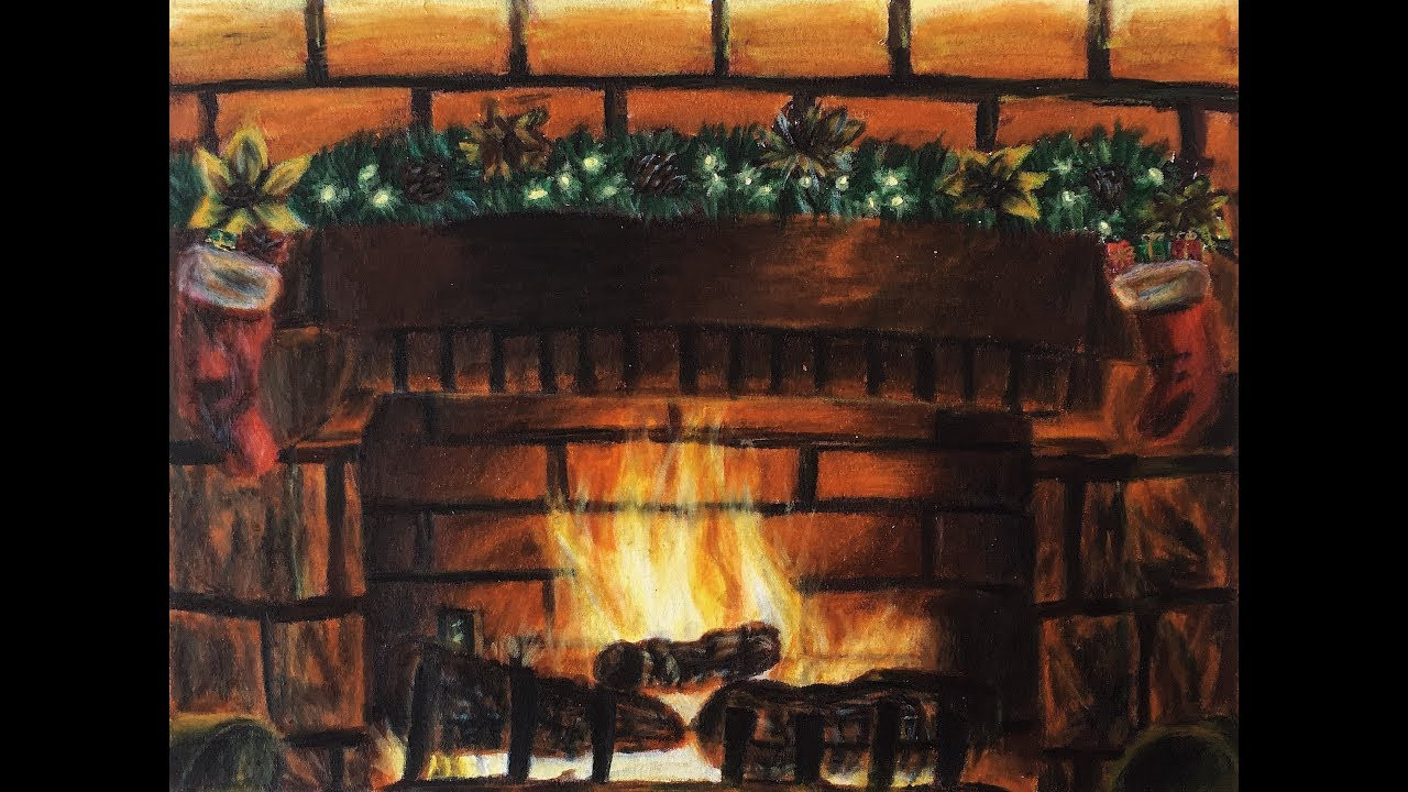 Christmas Fireplace Drawings  Christmas Fireplace Drawing