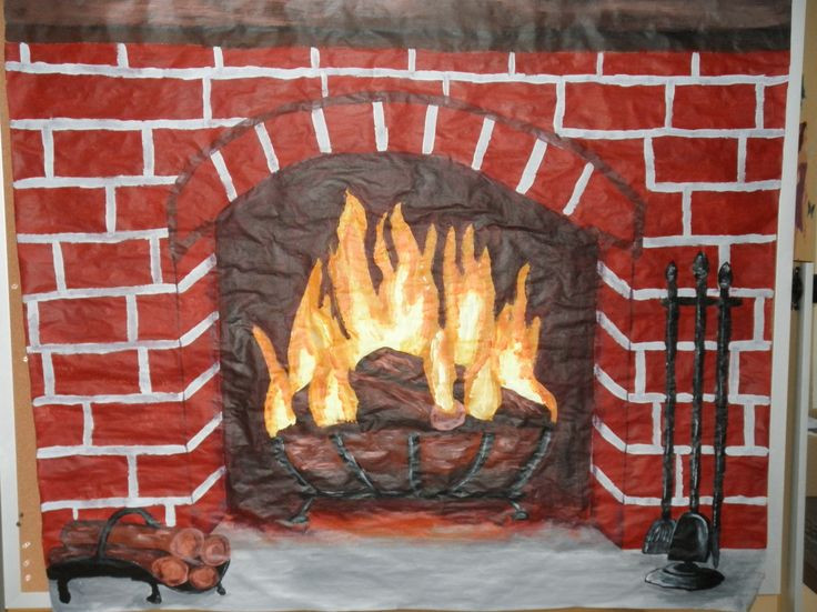 Christmas Fireplace Drawings  13 best Christmas Fireplace images on Pinterest