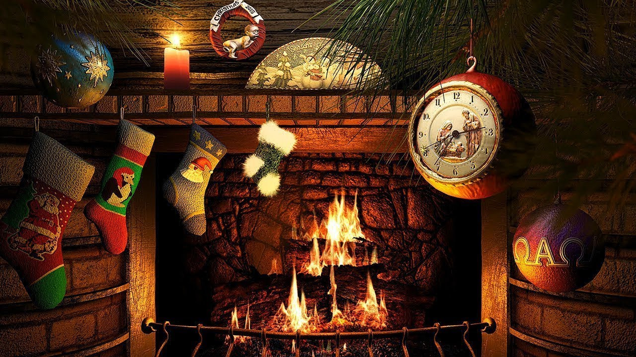 Christmas Fireplace Screensaver  Christmas Fireplace Screensaver 4K UHD