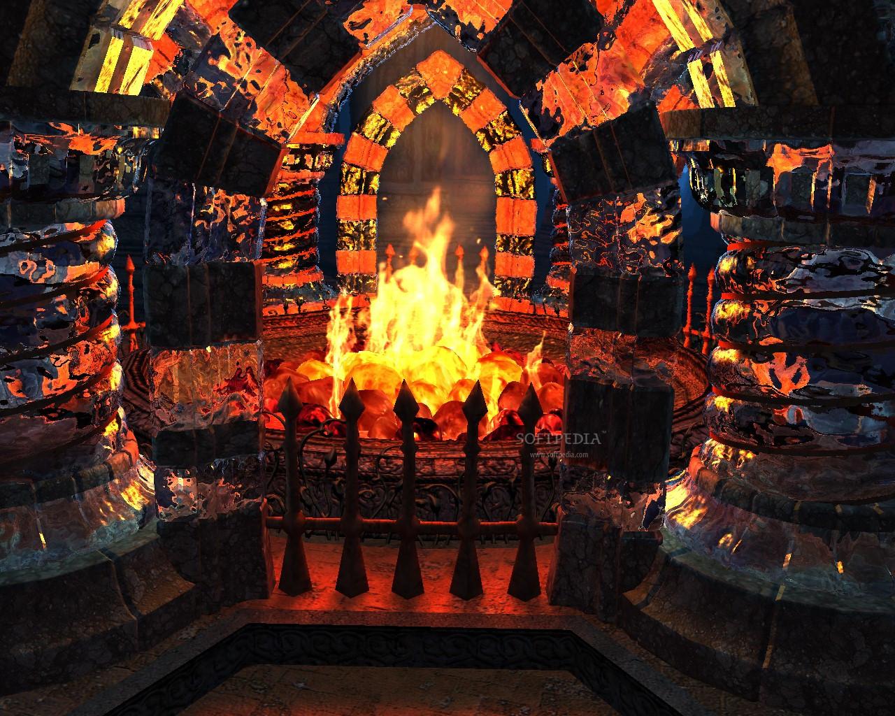 Christmas Fireplace Screensaver  Download Crystal Fireplace 3D Screensaver 1 1 Build 11