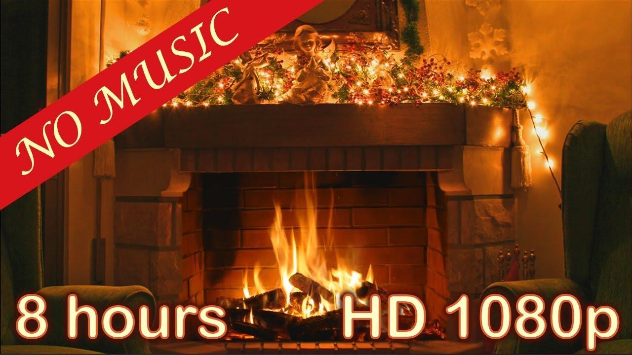 Christmas Fireplace Screensaver  8 HOURS CHRISTMAS FIREPLACE Christmas Fireplace Burning