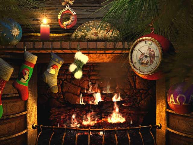 Christmas Fireplace Screensaver  Buckdog December 2009