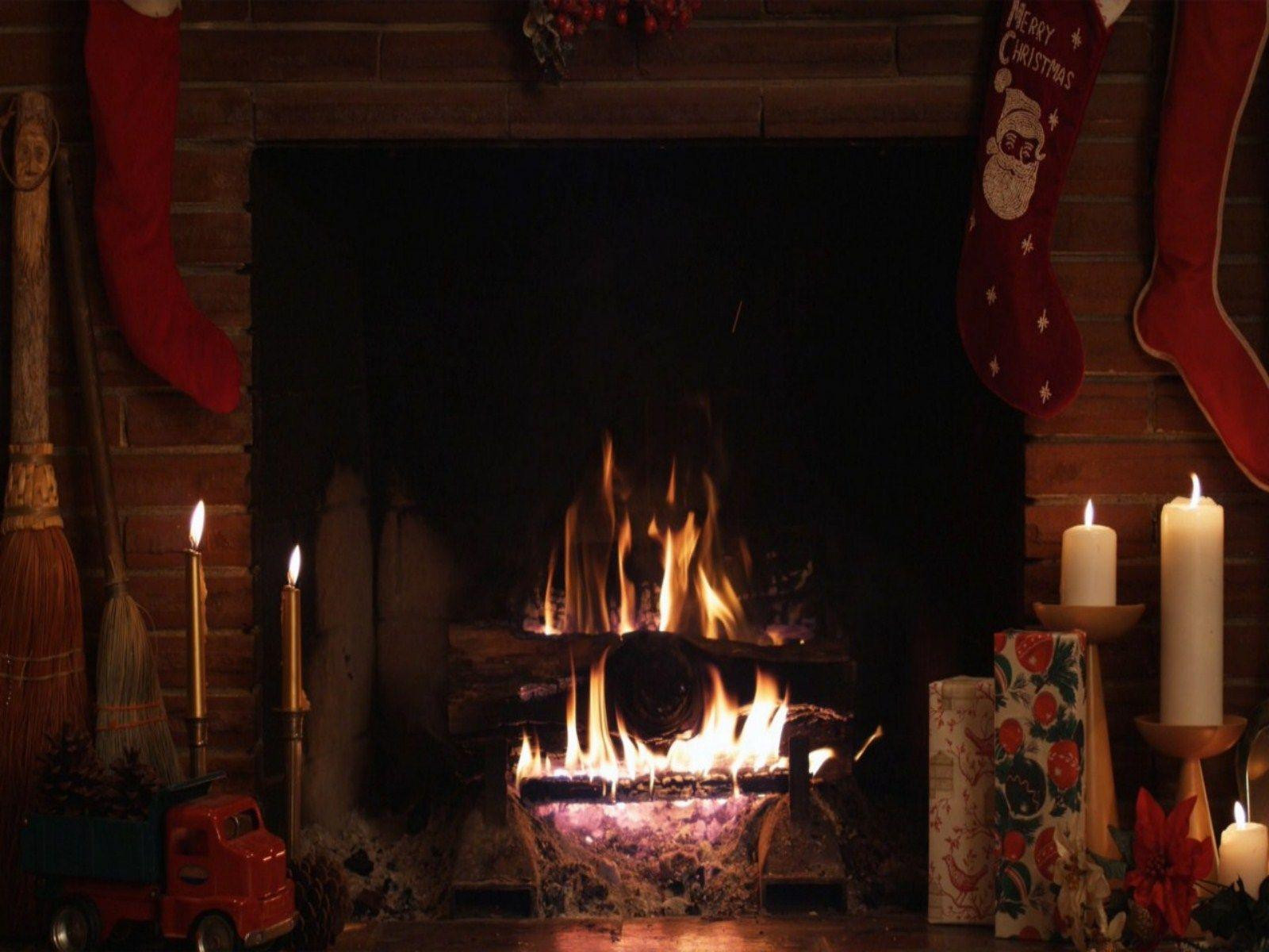 Christmas Fireplace Screensaver  Christmas Fireplace Wallpapers Wallpaper Cave
