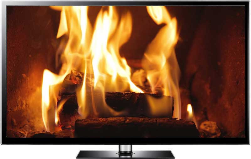 Christmas Fireplace Screensaver  Fire Screensaver Video in HD Toasty Fireplace for Christmas