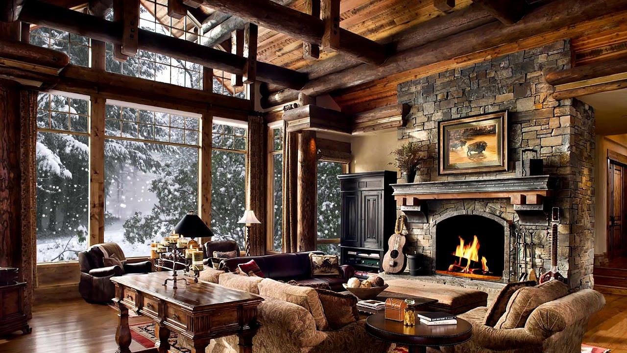 Christmas Fireplace Screensaver  HD Winter Christmas Screensaver Snow falling Fire