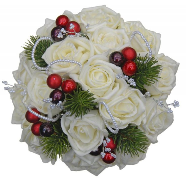 Christmas Flower Bouquets  50 best images about christmas wedding bouquet on