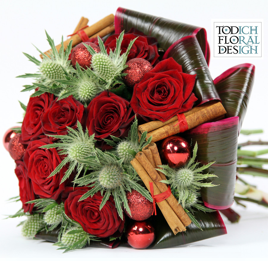 Christmas Flower Bouquets  The Cheery Business of Christmas Floral Arrangements from