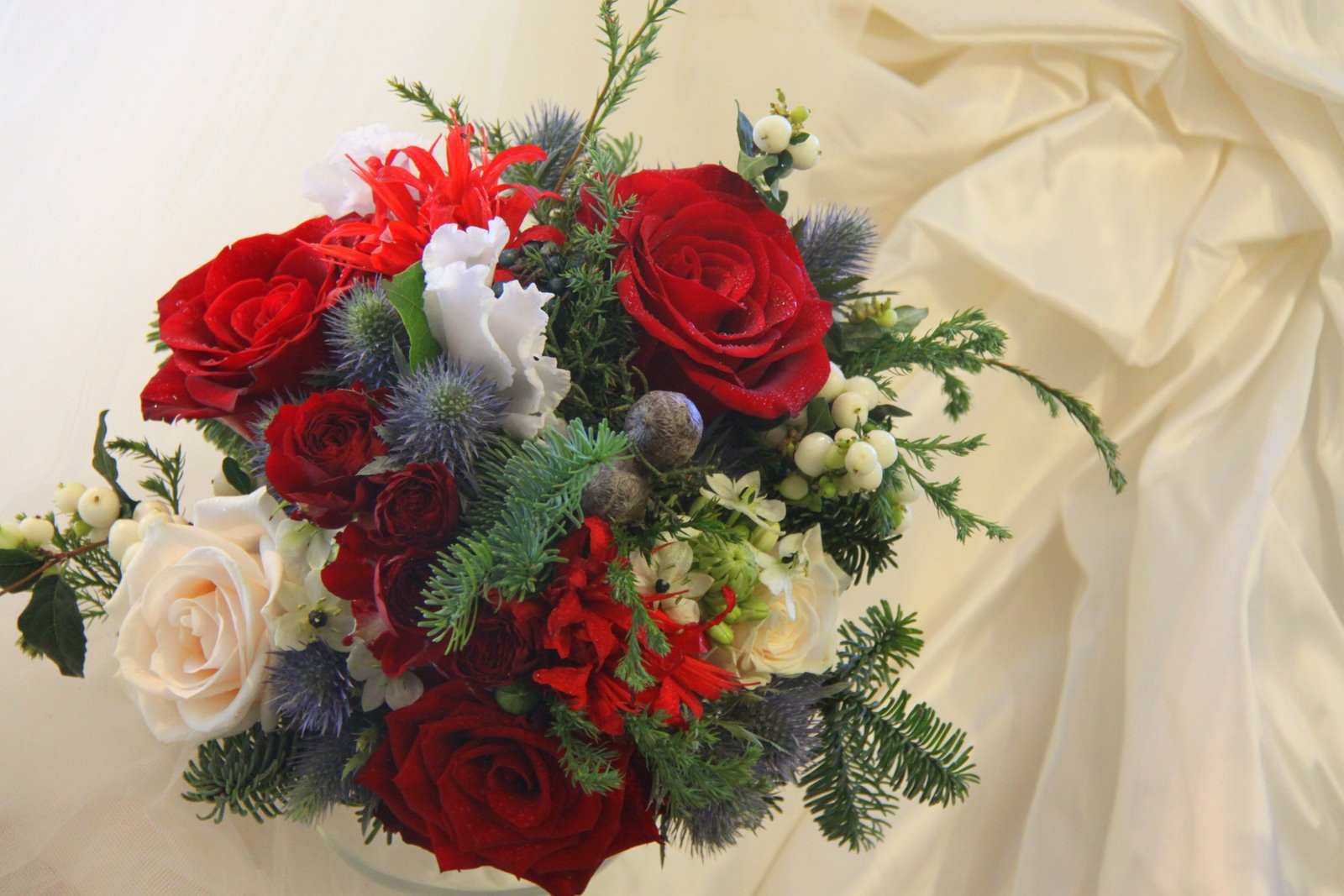 Christmas Flower Bouquets  The Flower Magician Christmas Wedding Bouquet