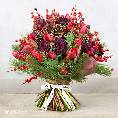 Christmas Flower Bouquets  Wonderful Christmas themed bouquets from London florist