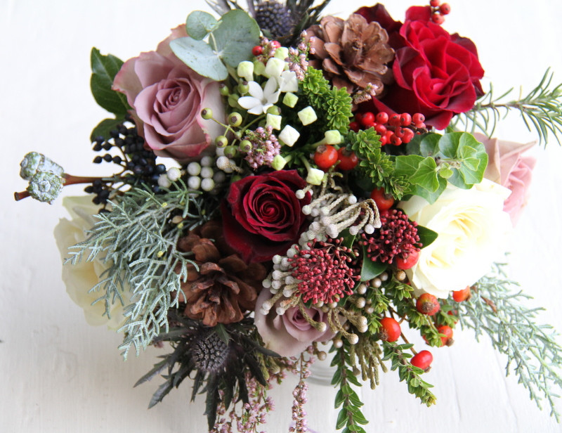 Christmas Flower Bouquets  The Flower Magician Gorgeous Christmas Wedding Bouquet