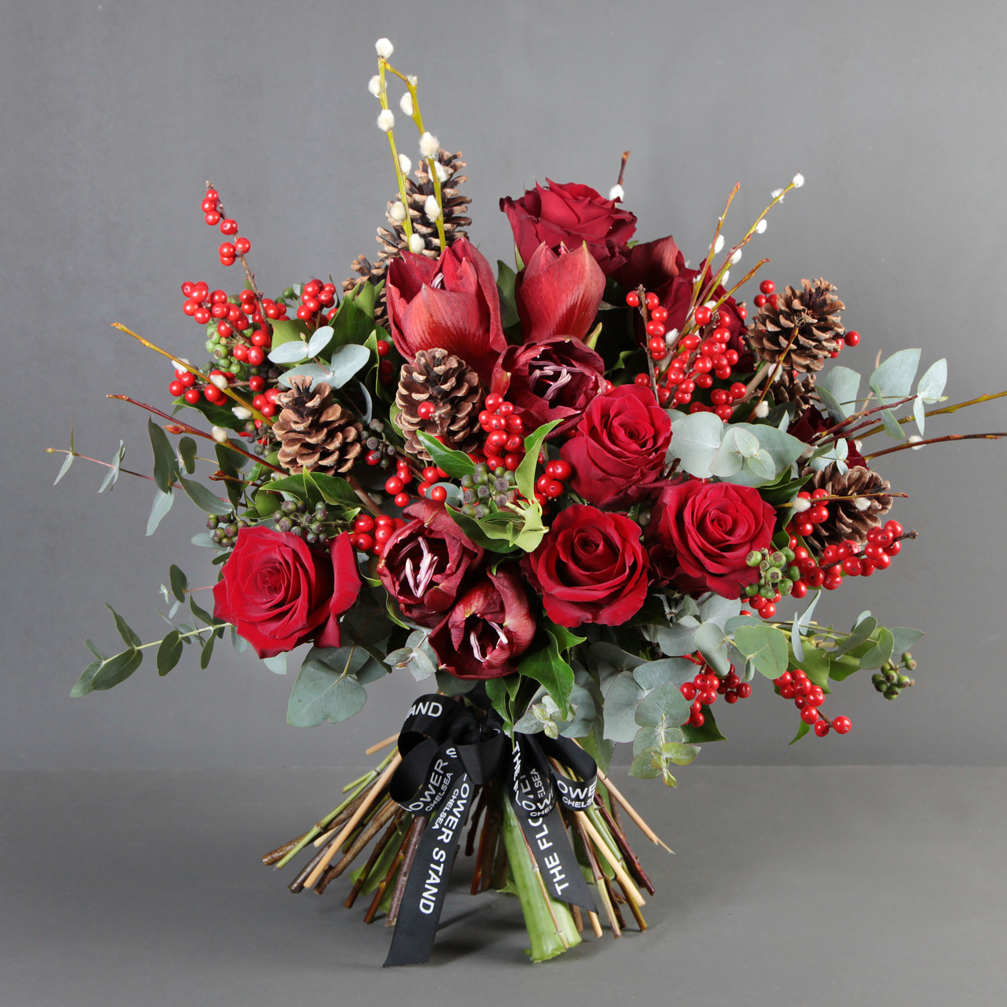 Christmas Flower Bouquets Fresh Red Christmas Bouquet