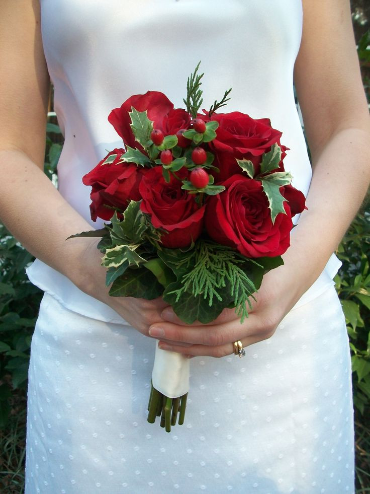 Christmas Flower Bouquets  17 Best images about christmas wedding bouquet on