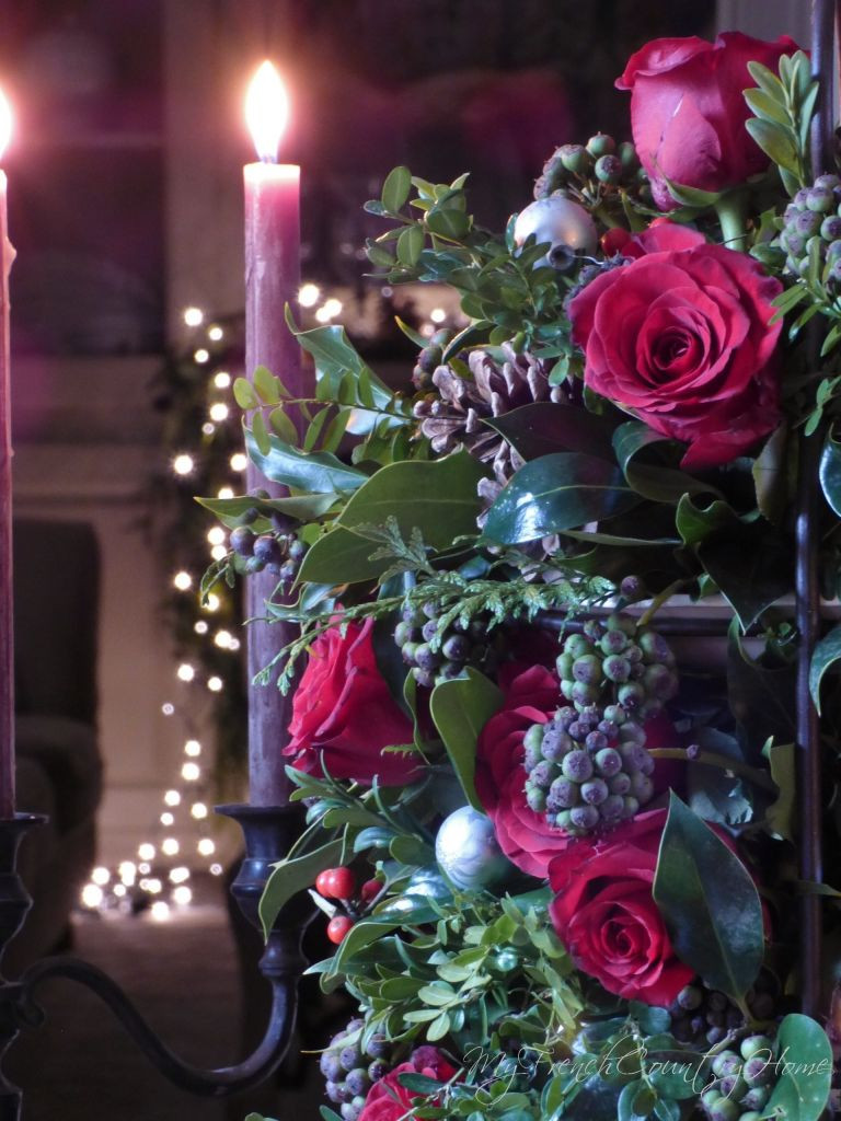 Christmas Flower Bouquets  christmas flowers red and black MY FRENCH COUNTRY HOME