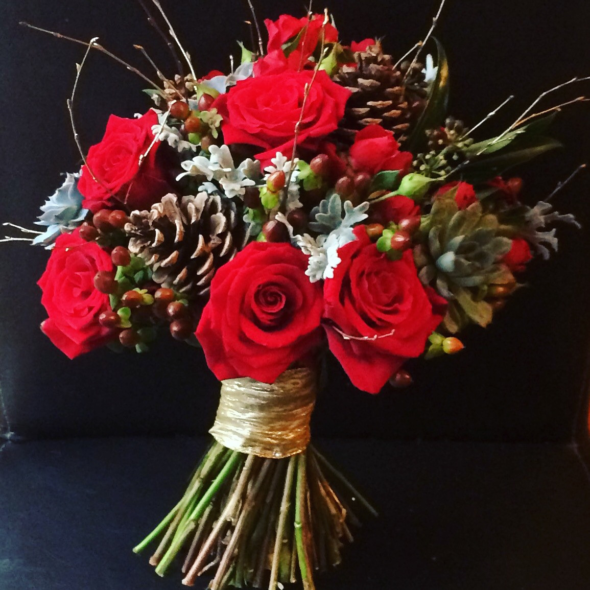 Christmas Flower Bouquets  Wedding at Christmas Queen Elizabeth Hexham