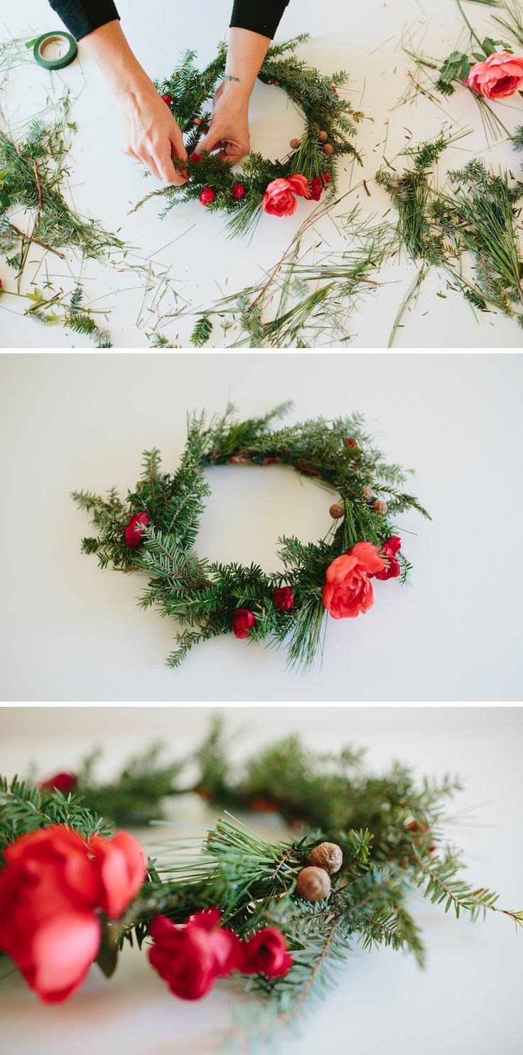 Christmas Flower Crown  17 Best images about DIY Wreaths & Garlands on Pinterest