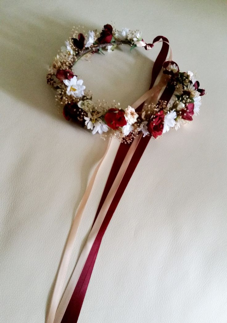 Christmas Flower Crown  10 images about Christmas flower Crowns on Pinterest