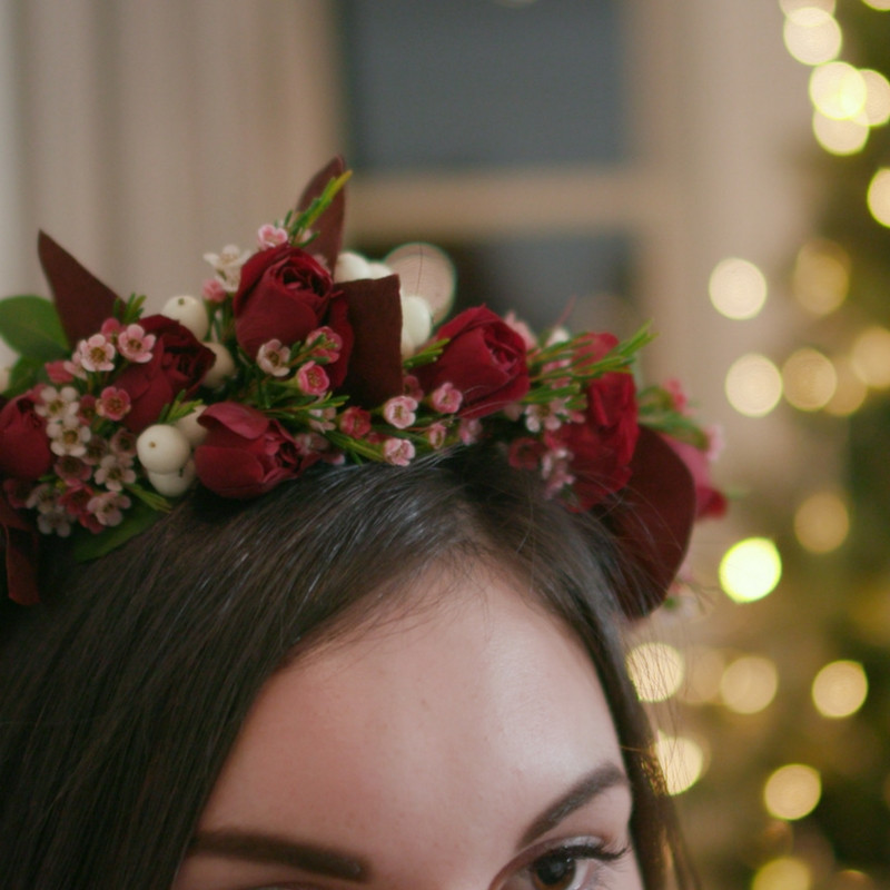 Christmas Flower Crown  How to Make a Festive Flower Crown for Christnas Day
