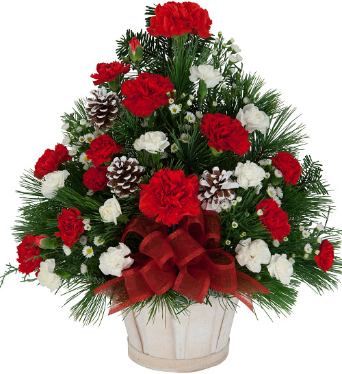 Christmas Flower Delivery Usa  Christmas Flower Arrangements · Basket of Joy CH2AA