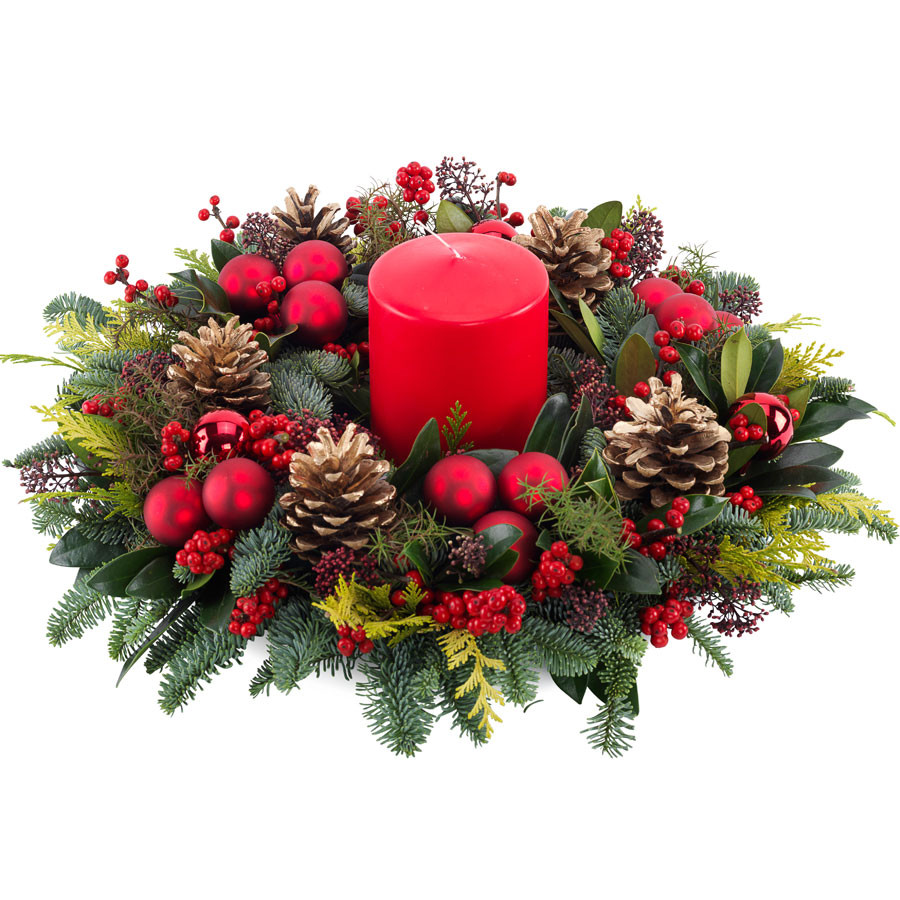 """Christmas Flower Delivery Usa  Wreath """"For Christmas"""""""
