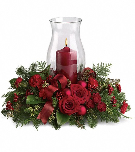 Christmas Flower Delivery Usa  Order Your Holiday Glow Centerpiece T115 3A All Flowers
