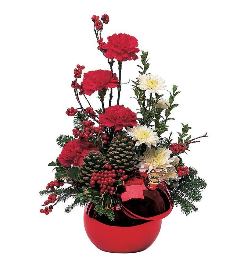 Christmas Flower Delivery Usa  Teleflora's Holiday Ornament TF92 3 $49 46