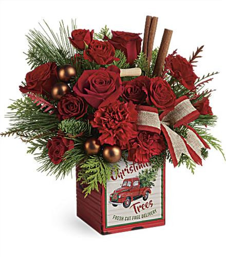 Christmas Flower Delivery Usa  T18X600 Winterberry Kisses Bouquet Teleflora Christmas