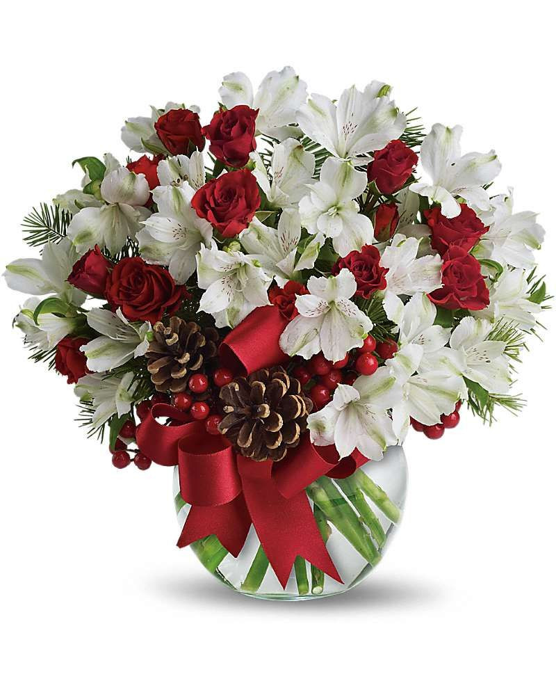 Christmas Flower Delivery Usa New Usa Flowers Let It Snow