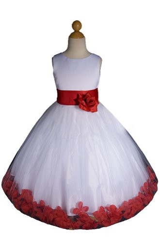 Christmas Flower Girl Dresses Beautiful Pageant Dresses for toddlers Discount New White Red