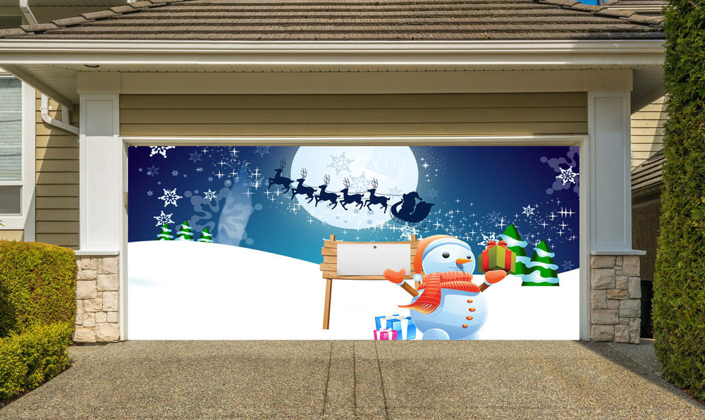 Christmas Garage Door Covers  Christmas Garage Door Covers 3D Banners Outside House
