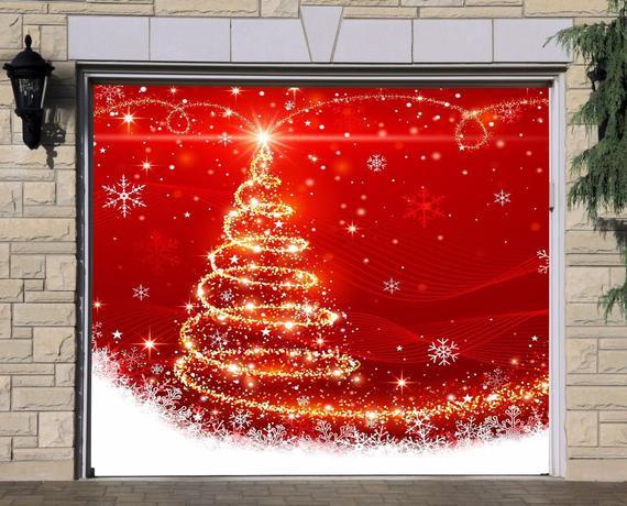 Christmas Garage Door Covers  Christmas Garage Door Covers Murals Banners INCREDIBLE