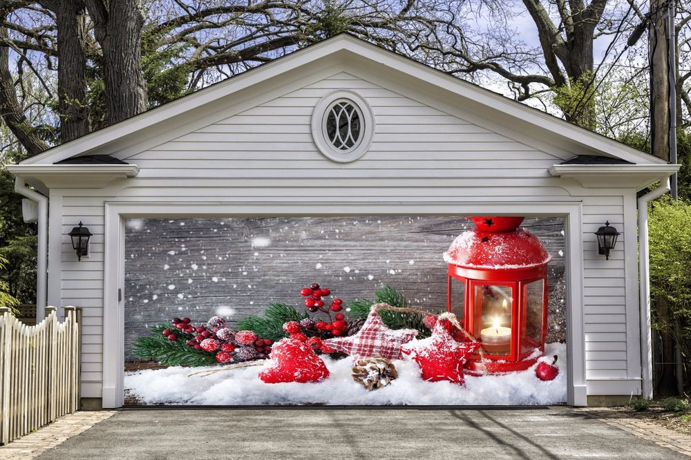 Christmas Garage Door Covers  Christmas Garage Door Covers Banners Outside House