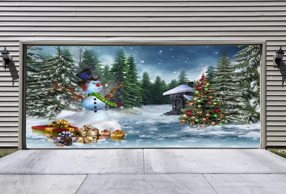 Christmas Garage Door Covers  UNIQUE Christmas Garage Door Covers 3d Effect Banners