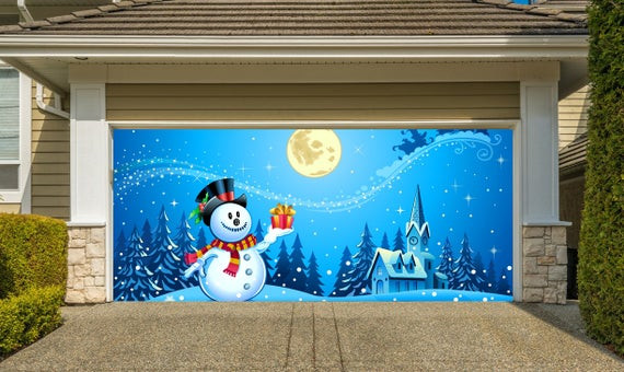 Christmas Garage Door Covers  Items similar to Christmas Garage Door Covers 3D Banners