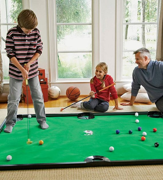 Christmas Indoor Games  Putter Pool Looks Ridiculously Fun