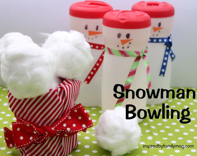 Christmas Indoor Games  Christmas Activity for Kids Snowman Bowling Great